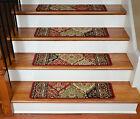 "Dean Premium Carpet Stair Treads - Panel Kerman Claret 31""W"