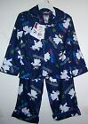 NWTS UP LATE POLAR BEAR 2PC FLANNEL PAJAMA SET BOYS SIZES 4 AND 6. POLYESTER NEW