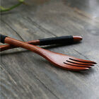 Wood Fork Dessert Food Bamboo Fruit Tableware Forks Wooden Utensil