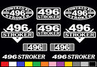 10 DECAL SET 496 V8 POWERED ENGINE STICKERS EMBLEMS 8.1 454 STROKER VINYL DECALS