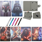 "Universal Buckle Star Wars Stand Folio Cover Leather Cases For 7"" Tablet+Stylus $8.82 USD"