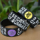"""5 SECONDS OF SUMMER 5 SOS 1"""" Wide Silicone Wristband Bracelet"""