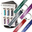 Show Offs Keys Funky Metal Key Rings 18 Worded designs Taxi White Van Bike ect..