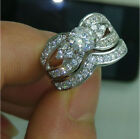 Size 5-10 Jewelry white Topaz 10kt white gold Filled Wedding women Ring Set gift