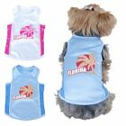 Pet Dog Puppy Summer Clothes Florida Sporty Cotton Mesh Tee T-Shirt Apparel