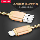 JOYROOM 304 Stainless Steel Metal Charger Data Sync Cable For iPhone 6S Samsung