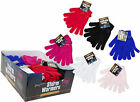 LADIES MAGIC GLOVES WITH MATCHING RIBBON BOW - 6 COLOURS - HANDS - WINTER WARMTH