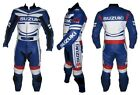 Suzuki Blue New Motorbike Racing Leather Suit Racing Motorcycle Cowhide Suit