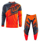 NEW 2016 TROY LEE DESIGNS GP FLEXION GEAR COMBO ORANGE/GREY SIZE 28/SMALL