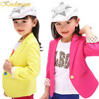 4 Colors Kids Fashion Blazers Suits Jacket Spring Autumn For Girls Outerwear
