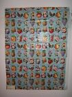 "Lee Jofa ""County Fair Print"" novelty glazed cotton fabric remnants for craft"