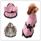 Luxury Pet Dog Cat Puppy Clothes Pink Coat Winter Warm Apparel Costume New