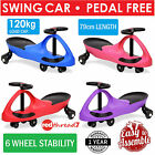 Swing Car Swivel Slider Kids Wiggle On Ride Scooter Slider Toy 6 Wheels Stable