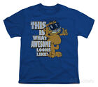 awesome kids clothes - Youth: Garfield - Awesome Apparel Kids T-Shirt - Royal