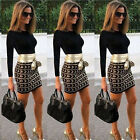 Long Sleeve Summer Evening Party Cocktail Bodycon Mini Short Dress Womens Casual