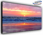 Sunset Beach Panoramic Canvas Print Modern Art 4 Sizes to Choose Ready to Hang