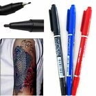 3 color Dual-Tip Tattoo Skin Marker Piercing Marking Pen Scribe Tool Surgical