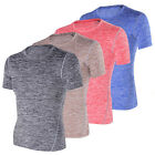 New Men's Crew Neck Short Sleeve T-Shirt Slim Fit Muscle Casual Basic Tee Shirts