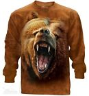New The Mountain Grizzly Bear Growl Long Sleeve T Shirt