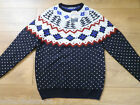 Mens Nordic Christmas Navy tree  jumper size medium mens BRAND NEW WITH TAGS