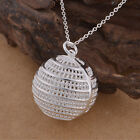 Women New 925 Sterling Silver Crystal Heart Pendant Necklace Chain Jewelry Cool