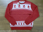 Mens Nordic Christmas Red skier jumper size medium or large  BRAND NEW WITH TAGS