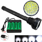 Rechargeable 32000LM 24x XM-L T6 LED Flashlight 5 Modes 4x 26650 Charger Lamp