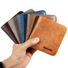 Men's Genuine Leather Slim Fold Wallet Credit Card Mini Purse ID Case 6 Colors