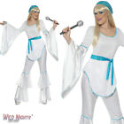 FANCY DRESS COSTUME # LADIES 1970s POP MUSIC SUPER TROOPER SIZE 8-18