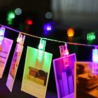 20 LED Battery Power Photo Peg Clip Shape Fairy String Lights Hanging Pictures