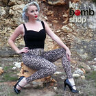 50s Inspired PEG BUNDY LEOPARD Animal Print Zipper Front HIGH WAIST Leggings