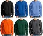 Hanes Mens Heavy Cotton Crewneck Pullover Sweatshirt Solid Plain