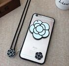 Camellia Flower TPU with a mirror For iPhone 6/6S Plus iPhone Case Cover