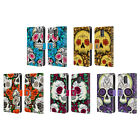 HEAD CASE FLORID OF SKULLS LEATHER BOOK CASE FOR SAMSUNG GALAXY S5 / S5 NEO