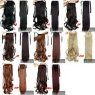 Real Thick Wrap Around Ponytail Hair Extensions Clip in on Pony Tail Piece sn85