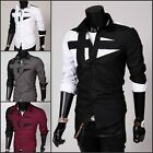 New Men's Fashion Luxury Casual Slim Fit Stylish Long Sleeve Dress Shirts Lot