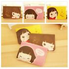 Portable Cute Girl ID Credit Card Holder Case Bag Pocket Wallet 12 Slots