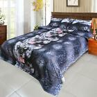 Set of 4 3D Bedding Set Black Tiger Duvet Cover+Bed Sheet+2 Pillowcases New O8M7
