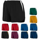 "LADIES MOISTURE WICKING, TWO TONE SHORTs w/ INNER BRIEF, 4"" INSEAM, XS M L XL 2X"