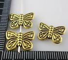 32/300pcs Tibetan Silver/Gold DIY Crafts Jewelry Making Butterfly Spacer Beads