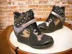 Wild Diva Lounge Sparkle-22 Camo Studded Wedge Fashion Sneaker NEW
