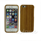 Real Natural Bamboo Wooden Hard Back Case Cover  Skin  For iPhone 5S 5 6 6 Plus