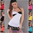 NEW SEXY WOMENS FASHION padded halter top LADIES CASUAL SHIRTS CLUBWEAR XS S M L