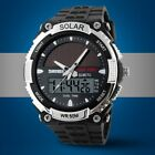 Military Solar Powered Waterproof Sport Hiking Digital Date Mens Quartz Watch