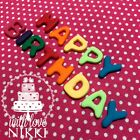 BRIGHT LETTERS NUMBERS 2cm edible icing fondant cupcake decoration CAKE TOPPERS
