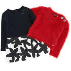 Catimini Girls Graphic City 2 In1 Dress with Red Sweater Original Retail  $120