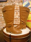 Bare Traps Tommy Tan Brown Wide Calf Buckle Detail Riding Boot New