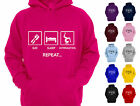 EAT SLEEP GYMNASTICS REPEAT GIRL'S CHILDREN'S GYMNASTICS HOODIE HOODY D2