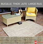 Jute Braided Thick Floor Rug Natural Large Rectangle Mat Indoor Outdoor ECO New