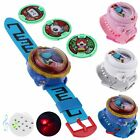 Anime DX Yokai Watch Toys LED Light+Sounds Cos Wristwatch With 3 Darts Kids Gift